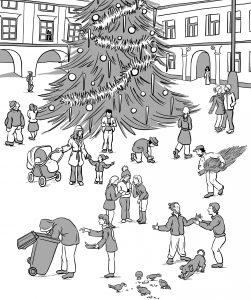 ilustrace adventní kniha